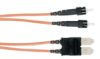 Ceramic Terminated 62.5-Micron Multimode GSA Fiber Optic Cable, ST-SC, Duplex Riser, 1-m (3.2-ft.) -- EFN4010-001M - Image