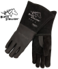 Premium Elkskin Stick Welding Gloves - BlackForge Edition -- REV-855-MASTER