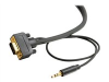 100ft Flexima HD15 UXGA + 3.5mm Stereo Audio M/M Monitor Cable -- 28256