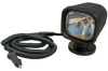 Magnetic HID Spotlight - 3200 Lumens - 5 inch, 200LB Grip Magnet - 12' Coil Cord - Cig Plug -- ML-44-S-M