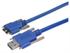 USB 3.0 Cable, Type A/micro B with Thumbscrew Hardware 1.0M -- MUS3A00023-1M -Image