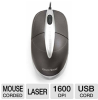 Gear Head LM6000U Laser Scroll Mouse - USB, Silver -- LM6000U