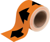 Brady B-946 Black on Orange Directional Flow Arrow Tape - 4 in Width - 30 yd Length - 91410 -- 754476-91410 - Image