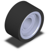 Press-Fit Style Roller - Precision Bearing - 95 Dur Urethane - .75 in Dia X .38 in Width - .250 in ID -- PR-404824-95UR-20B