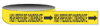 Economy Pipe Markers-To-Go (Black on Yellow; HIGH PRESSURE CONDENSATE; 1