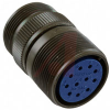 connector comp,shell only,metal circular,cable receptacle,size 22,black zinc -- 70141169