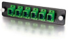 Q-Series™ 6-Strand, SC, Zirconia Insert, SM, APC, Green SC Adapter Panel -- APL-QTR-S8S