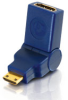 Velocity? 90° Rotating HDMI® Female to HDMI® Mini Male Port Saver Adapter -- 2101-40434-ADT
