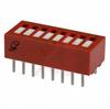 Switch, DIP; 0.880 in. L x 0.380 in. W;8; SPST; Thru-Hole; 0.1 in.; 0.02 in. -- 70216665 - Image
