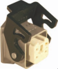 3 Pole with Ground Industrial Rectangular Connector Pre-Assembled Unit with Bulkhead Mount Housing -- 403001 - Image