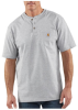 Men's Short Sleeve Workwear Henley -- CAR-K84