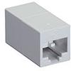 CAT5e Coupler, Cross-Pinned, Unshielded, White, 10-Pack -- FM566-R2-10PAK