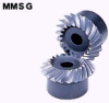 100mm PD Ground Spiral Miter Gears -- MMSG4-25L -- View Larger Image