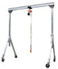 ADJUSTABLE HEIGHT ALUMINUM GANTRY CRANES -- HAHA-4-10-12 -- View Larger Image