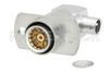 BMA Jack Right Angle Slide-On Connector Solder Attachment 2 Hole Flange Mount for RG402, PE-SR402AL, PE-SR402FL, PE-SR402FLJ, PE-SR402TN -- PE45329 -Image
