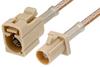 Beige FAKRA Plug to FAKRA Jack Cable 36 Inch Length Using RG316 Coax -- PE38756I-36 -Image