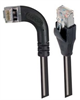 Shielded Category 6 Right Angle Patch Cable, Straight/Right Angle Left, Black, 25.0 ft -- TRD695SRA6BLK-25 -Image