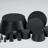 Black Neoprene Plugs - BN-SH SERIES -- BN-SH-128