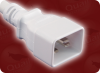 IEC-60320-C20 WHITE to IEC-60320-C19 WHITE HOME • Power Cords • IEC/Jumper Power Cords • Colored -- 5281.084W -Image