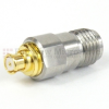 SMA Female (Jack) to SMP Female (Jack) Adapter, Passivated Stainless Steel Body, 1.25 VSWR -- SM8805 - Image