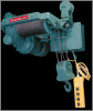 Electrolift Single Hook Plain Trolley Monorail Hoist -- 53