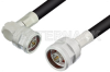 N Male to N Male Right Angle Cable 36 Inch Length Using LMR-400 Coax -- PE3C0041-36 -Image