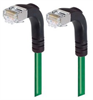 Shielded Category 6 Right Angle Patch Cable, Right Angle Down/Right Angle Down, Green, 1.0 ft -- TRD695SRA3GR-1 -- View Larger Image