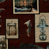 Fishing Patch Wall Tapestry Fabric -- R-Angler -- View Larger Image