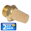 1/4in. male NPT Sintered Bronze Cone Pneumatic Silencer, 2/pk. -- SBC-14N