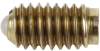 Ball Plunger - Steel Body, Nylon Ball: 10-32 Thread, End Force = .50 Initial x 1.50 Final with Locking Element -- 53801 - Image