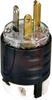 Plug,Hospital Grade,2 Pole,3 Wire,20A,125V,NEMA Config: 5-20P,Black and Clear -- 70050657