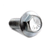 "3/8-16 x 1"" Gr. 5 Hex Flange Machine Screw, Large, Serrated, Indented Head, Zinc -- BS5LFB03001016Z"
