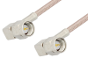 SMA Male Right Angle to SMA Male Right Angle Cable 6 Inch Length Using RG316-DS Coax -- PE3987-6 -Image
