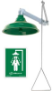 Horizontal Or Vertical Drench Shower Abs Plastic Showerhead -- T9HB549120