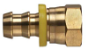Brass Push-on Fitting - Female JIC 37 Degree/SAE 45 Degree Swivel (Dual Angle Seat) - Image