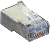 Cat5e EZ RJ45 Modular Plug Connector-Shielded TAA 100-Pack -- C5EEZSP-100PAK