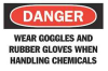 Danger Sign,7 x 10In,R and BK/WHT,ENG -- 6F917