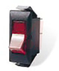 Switch, Rocker, Mid Size Snap-In, Non-Illuminated AC, On-None-Off, Black -- 70155566 - Image