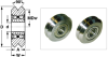 Precision V Groove Guide Wheels (metric) -- A 7Y16M4 -Image