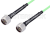 N Male to N Male Low Loss Test Cable 48 Inch Length Using PE-P142LL Coax, RoHS -- PE343-48 -Image