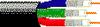 RGB Video, Mini Hi-Res, 25 AWG 3 Coax Solid TC, CMR -- 1393R -Image
