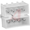 Connector, Shell; Commercial MATE-N-LOK; Pin; 8; 13; 250 VAC; Nylon; Natural -- 70083154 - Image