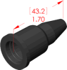 Straight Boot Insulator -- 18081 -- View Larger Image