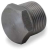 Hex Head Plug,4 In,Threaded,Black Steel -- 1MNG4