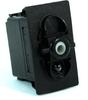 Carling Technologies V1D1B60B-00000-000 1-Light, SPST, On-Off, 12V/20A Rocker Switch -- 44305 - Image