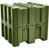 Pelican AL3834-1617 Single Lid Cube Shipping Case - No Foam - Olive Drab -- PEL-AL3834-1617-RP-137 -Image