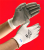 GREAT WHITE (TM) Dyneema (R)/Lycra(R) White Seamless Shell, Gray Polyurethane coated Palm and Fingertips, X-Large -- 616314-48524