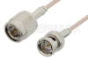 75 Ohm TNC Male to 75 Ohm BNC Male Cable 48 Inch Length Using 75 Ohm RG179 Coax -- PE35362-48 -Image