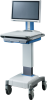 Mobile Medical Cart with All-In-One Touch Computer or Embedded PC -- AMiS-50E -Image