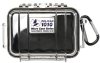 Pelican 1010 Micro Case - Clear with Black Liner -- PEL-1010-025-100 -Image